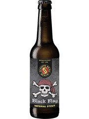 deutsches Bier Schoppe Bräu Black Flag Imperial Stout in der 33 cl Bierflasche